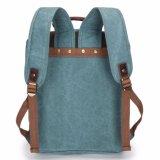Vintage Canvas рюкзак с люка из натуральной кожи