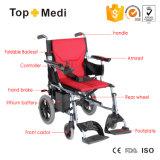 Peso leve portátil sem escova do produto novo que dobra a cadeira de rodas elétrica pequena Handcycle