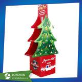 Árvore de Natal promocionais suporte da tela de prateleiras de Papelão Ondulado
