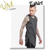 Longue file de mode gilet de polyester de coton de T-shirt de fournisseur de vêtements