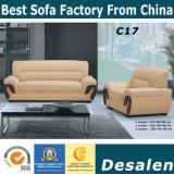 Bestes Qualitätsbüro-Möbel-Großhandelspreis-Leder-Sofa (C17)