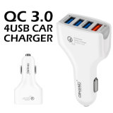 QC3.0 4 포트 USB (백색) 이동 전화를 위한 빠른 비용을 부과 USB 차 충전기