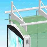 Smart City abri d'arrêt de bus numérique avec écran LCD tactile de la publicité