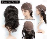 Glücks-Haar-lange natürliche Farben-brasilianische Jungfrau-Menschenhaar-Perücken