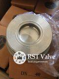 Não voltar a Mola de aço inoxidável fundido da válvula de retenção de wafers