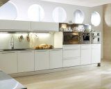 Barato Quente-Vendendo o gabinete de cozinha acrílico elevado da laca da porta do projeto moderno do lustro