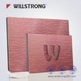 Colore rosso viola del comitato composito di alluminio spazzolato per la parete divisoria