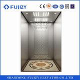 elevador projetado de luxe do passageiro do hotel do aço inoxidável da linha fina de 800kg 1.0m/S