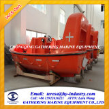 6p com motor de popa da embarcação de salvamento marítimo