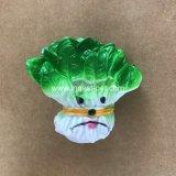 Giocattoli di verdure striduli della melanzana della carota del cavolo, giocattolo della plastica del cane