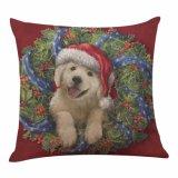Cubierta de lino de la almohadilla del algodón de la amapola de la Navidad