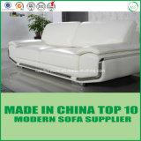 Sofá de madera de cuero suave de los muebles modernos con estilo