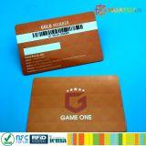 Cartão disponível magnético da lealdade da sociedade do código de barras de 3 trilhas para o supermercado
