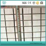 モザイク、白い木製の大理石の平板、屋内のための白いモザイク