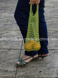 Lado Sacola de Compras Líquidas de dobragem de croché, saco de praia de malha