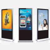 Hotel o aeropuerto que hace publicidad del quiosco de la visualización de la pantalla táctil del LCD