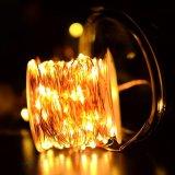 배터리 전원을 사용하는 LED 은 철사 끈 요전같은 빛 파란 팩에 의하여 점화한다. 6.57 피트 Ultra-Thin 은 철사에 밝은 소형 LEDs