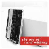 저가 도매 Cmyk Barcode 구멍에 의하여 구멍을 뚫는 PVC 자석 줄무늬 카드를 인쇄하는 양측