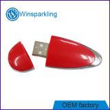 Plástico vermelho popular formato queda de uma unidade flash USB