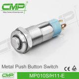 mini interruptor de pulsador impermeable de 10m m
