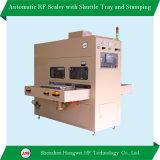 Machine de soudage à haute fréquence automatique avec bac de navette pour le gaufrage le tapis de plancher