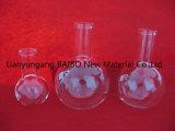 Pallone d'ebollizione inferiore rotondo di vetro di quarzo del laboratorio di Baibo con la bocca di lucidatura 150ml