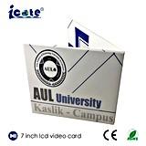 Карточка LCD 7.0 дюймов видео- для приглашения дела