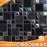 Vendita calda! Mosaico di vetro Maglia-Montato mattonelle nere della parete di colore (M855005)