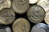 Runde Nahrungsmittelblechdose mit Eoe einfacher geöffneter Kappe