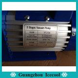 1HP R410A/R407c를 위한 계기 그리고 벨브를 가진 두 배 단계 진공 펌프 Vp2100