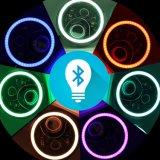 RGB DRL 천사 눈을%s 가진 방수 달무리 반지 LED 둥근 헤드라이트를 바꾸는 고/저 광속 40W 색깔