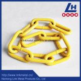 黄色いプラスチック・コーティングG80のリンク・チェーン