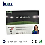 Fabrik-Preis! Video Broschüre-videobuch-Videokarte 4.3 Zoll mit Qualität