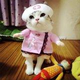 Il gatto su ordinazione dell'animale domestico dei vestiti dell'animale domestico di prezzi bassi copre l'accessorio dell'animale domestico