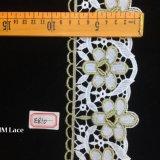 8cm Asstd Hme810のためのクリーム色型の金のレースのリボン飾ること、DIY、花の設計及びクラフト