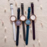 Reloj ocasional clásico del OEM del ODM del regalo de la manera impermeable de la mujer (Wy-128E)