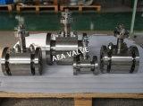 Robinet à tournant sphérique cryogénique de tourillon d'acier inoxydable cheminée duplex de prolonge de longue