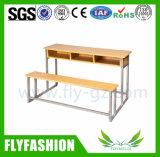جديدة تصميم قاعة الدرس أثاث لازم ضعف مكتب وكرسي تثبيت ([سف-35د])