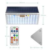 Aluminiummikrowellen-Radar-Fühler-Licht des garten-Licht-76 LED 15W Solarmit Fernsteuerungs