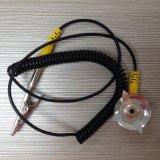 Sucker Negro Tipo de cables de conexión a tierra de seguridad de ESD