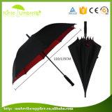 まっすぐな自動開いた傘のエヴァのハンドルのゴルフ日曜日雨傘