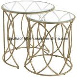 居間の家具の円形のガラスコーヒーテーブル