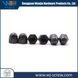 Haute qualité hexagone noir des écrous borgnes en forme de dôme
