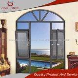 Madera aluminio Heat-Insulation Casement Windows con pantalla de la Mosca