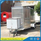 Camion mobile en aluminium de nourriture de camion de nourriture de Ys-Fw400A à vendre l'Europe