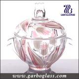 Tarro de cristal de la hoja de arce roja del color del aerosol (GB1806FY/PDS)
