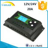 Contrôleur solaire 20A de chargeur de PWM avec la fonction de mémoire de défaillance de l'alimentation