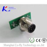 M12 4 Pin 방수 PA 연결관 정면 빠른 자물쇠 주름 IP 67 전기 연결관