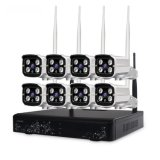 Wireless WiFi Câmara para exterior IP de Vigilância sistema 8CH Kit NVR