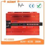 Suoer 24V 220V 3000 Watts de potência da onda senoidal pura Inversor CA (FPC DC-D3000B)